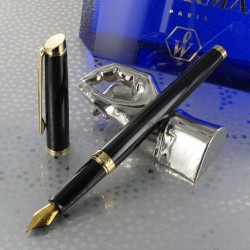 Stylo Plume WATERMAN® Hémisphère Noir Brillant GT ( Medium )