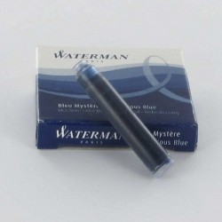 Lot de 10 boîtes de cartouches d'encre WATERMAN® courtes Bleu Mystère