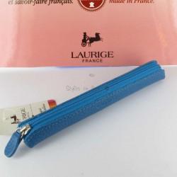 Etui-Trousse Cuir Laurige® Turquoise