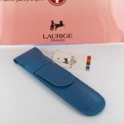 Etui Cuir Laurige® Turquoise 1 Stylo